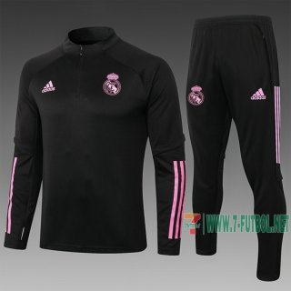 7-Futbol: Chandal Del Real Madrid Negra 2020 2021 B442