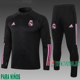 7-Futbol: Chandal Niño Real Madrid Negra 2020 2021 E509