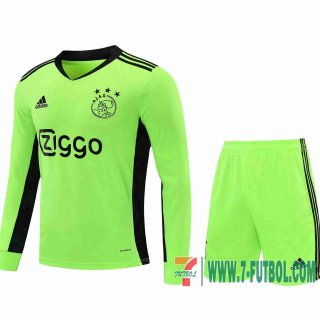 Camiseta futbol Ajax Manga Larga green 2020 2021