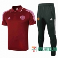 Polo Futbol Manchester United Bordeaux + Pantalon 2020 2021 P186