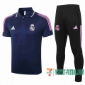 Polo Futbol Real Madrid zafiro + Pantalon 2020 2021 P188