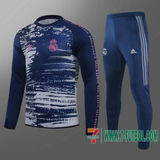 Chandal Futbol Real Madrid Azul marinoo - Col Around a imprime pad + Pantalon 2020 2021 T28