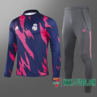 Chandal Futbol Real Madrid roja et azul + Pantalon 2020 2021 T86