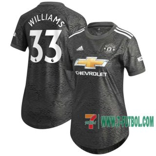 7-Futbol: Manchester United Camiseta Del Williams 33 Segunda Mujer 20-21